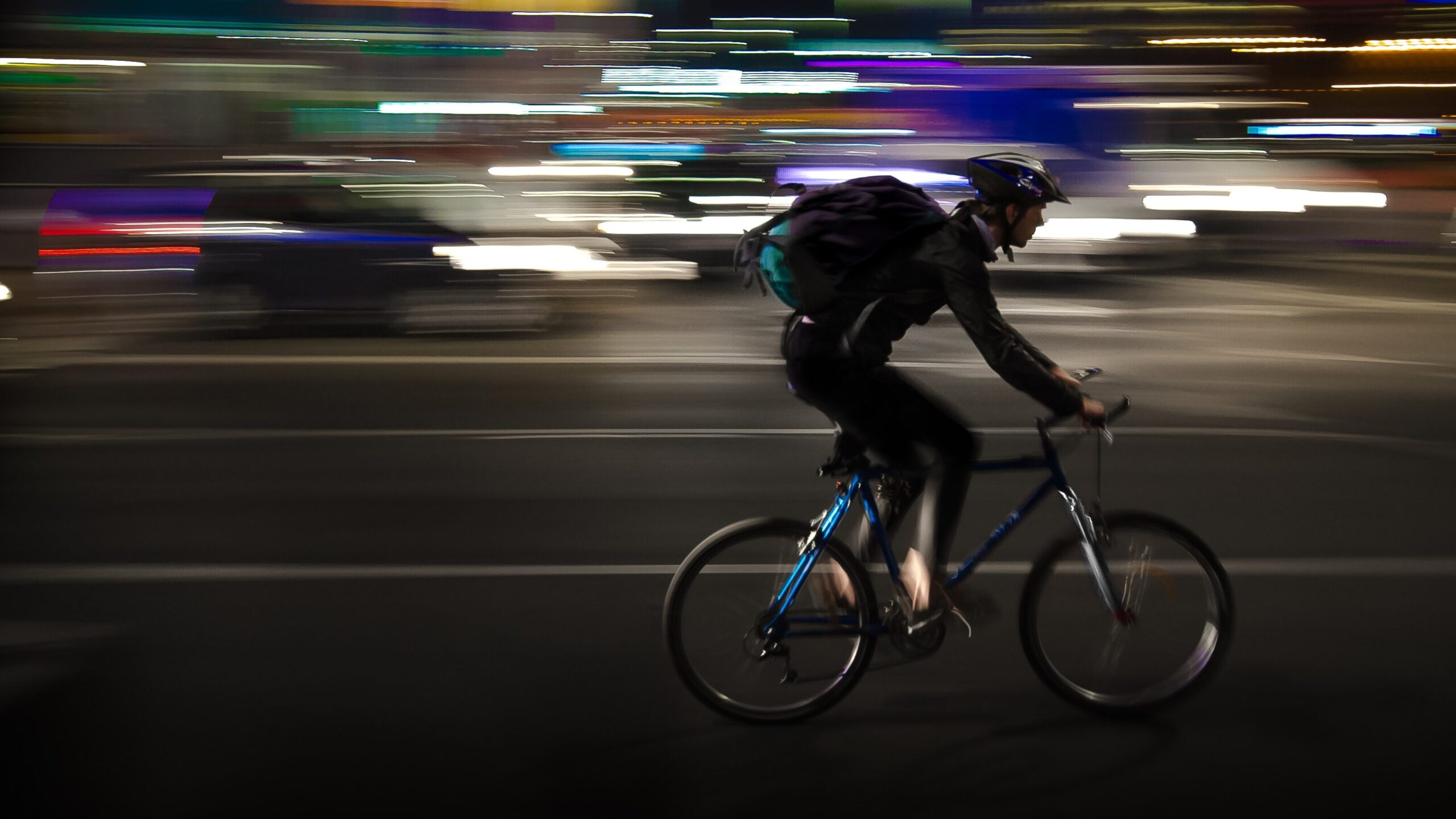 Bicycling at night