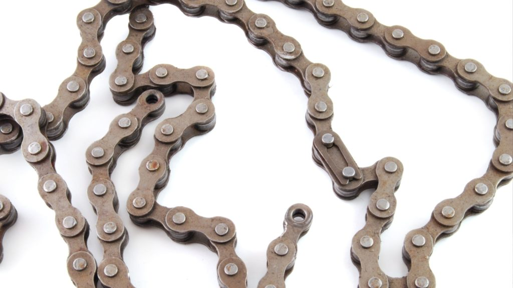 chain is on the table